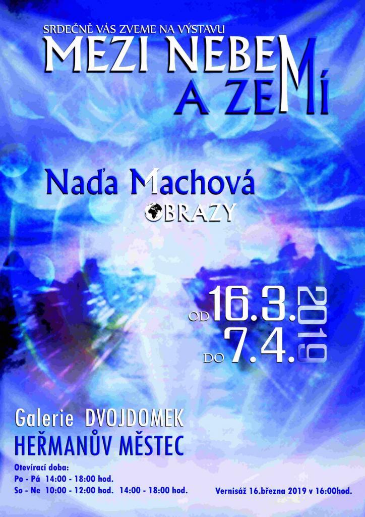 Výstava Mezi nebem azemí - plakát