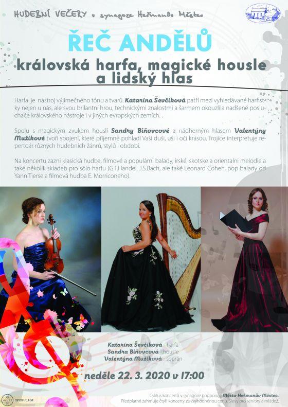 ŘEČ ANDĚLŮ - královská harfa, magické housle alidský hlas