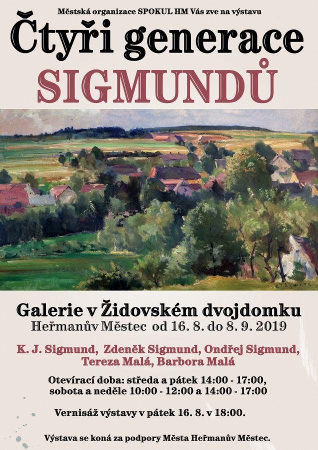 Výstava Čtyři generace Sigmundů