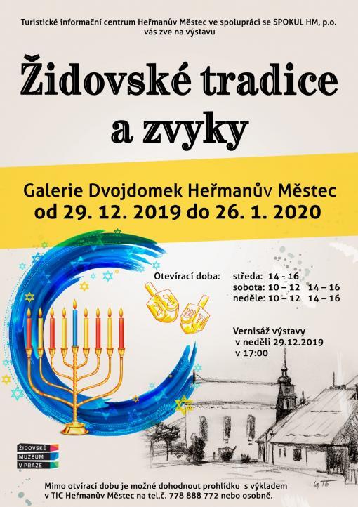 výstava Židovské tradice azvyky vGalerii Dvojdomek