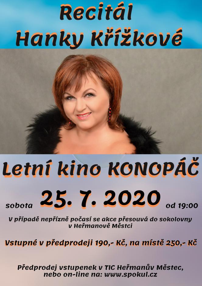 Recitál Hanky Křížkové - Letní kino Konopáč