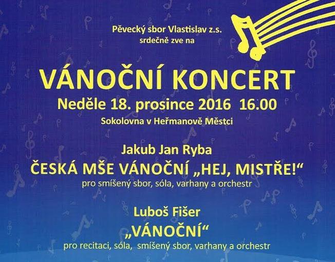 Vánoční koncert pěveckého sboru Vlastislav 1